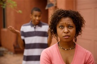 perplexed mother parenting teenagers