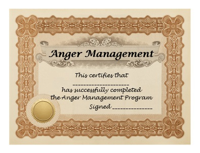 Anger Management Program Certificate