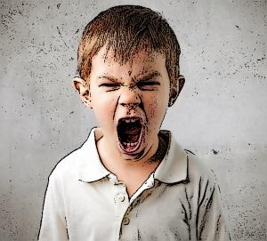 angry boy yelling