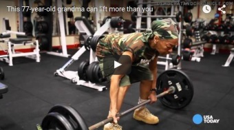Power Lifting Grandma